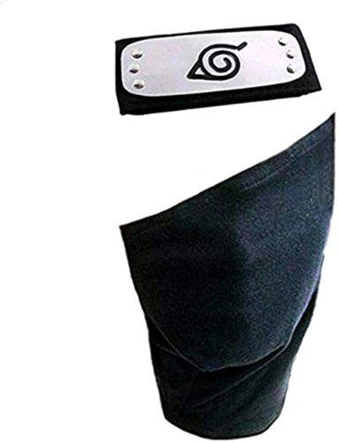 Naruto Cosplay Headband Leaf Village Kakashi Cosplay Mask Veil