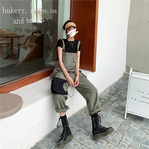 Army Green Loose Overall