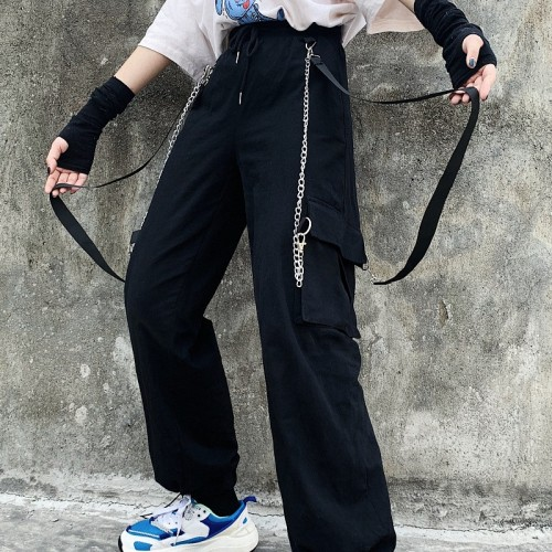 Detachable Cargo Pants with Chain