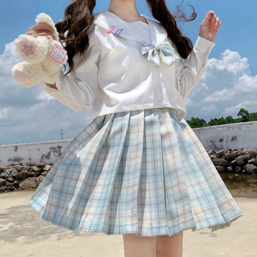 JK Pleated Skirt with Position Line