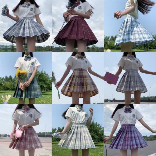 JK Pleated High-waist A-line Skirt