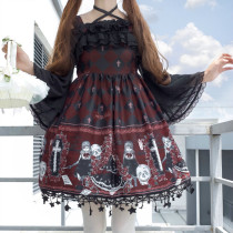 Sweet Lolita Chiffon Off-shoulder Halter Lining