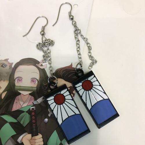 Demon Slayer Metal Jewelry Earrings
