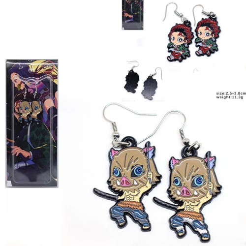 New Type Demon Slayer Metal Jewelry Earrings