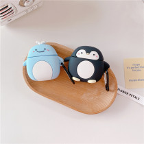 Cute Penguin&whale Airpods Earphone 1/2 Soft Plastic Shell Case