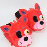 Teddy Bear & Fox Plush Slippers