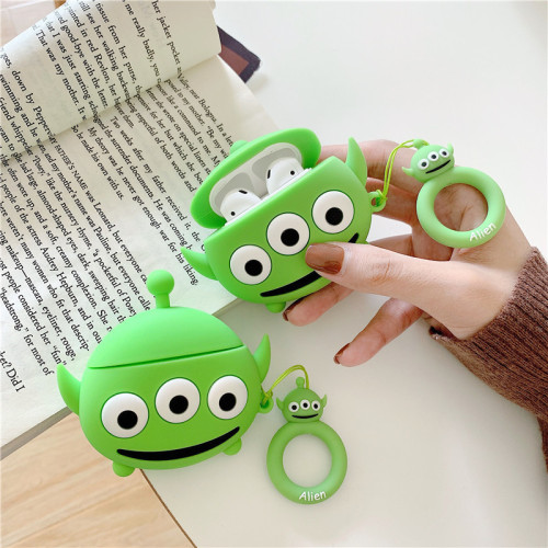 Cute Cartoon 3-eyed Monster Airbods Protective Case