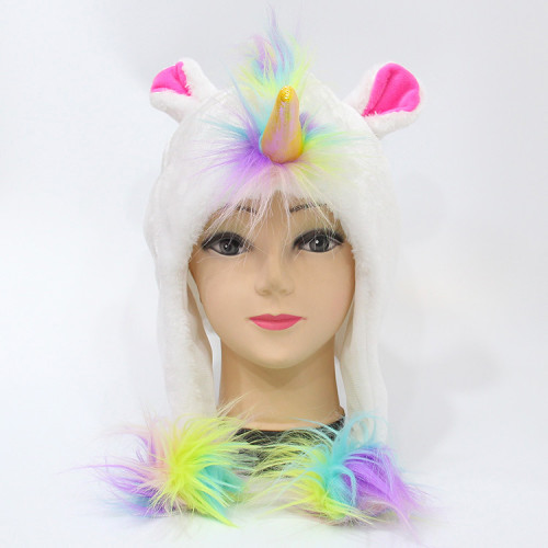 Rainbow Unicorn Plush Hats