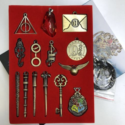 Harry Potter Necklace & Badge Package