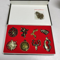 Game of Thrones Key Chains & Necklaces Package