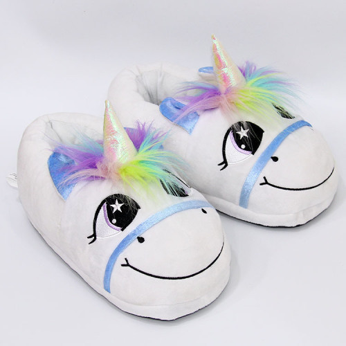 Rainbow Unicorn Plush Slippers