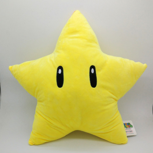 Super Mario Cartoon Yellow Star Plush Pillows