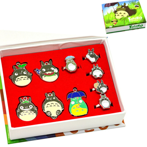 Tonari No Totoro Pendant & Necklaces & Rings Package