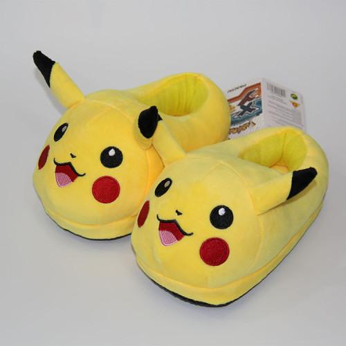 Pikachu Charmander Mini Plush Slippers