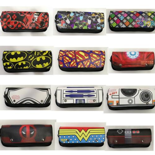 Deadpool & Wonder Woman Pencil Cases