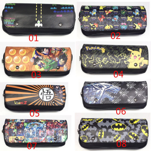 Batman & Dragon Ball Cartoon Pencil Cases