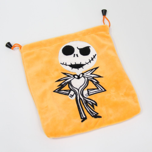 Jack Skellington Plush Drawstring Bag
