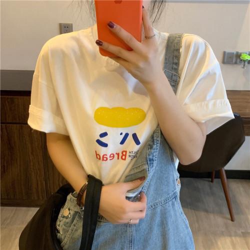 Printed Versatile Loose Short Sleeve T-shirt