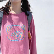 Sweet Bear Print Long Sleeve T-shirt