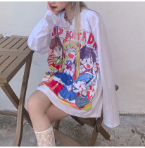 Sailor Moon Large Loli Cartoon Print Long Sleeve T-shirt