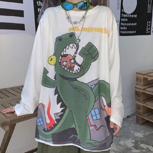 Little Dinosaur Long Sleeve T-shirt Hoodless Sweatshirt