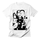 Naruto Print Black and White Pattern Printing T-shirt