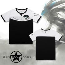 BLACK ROCK SHOOTER Round Collar T-shirt