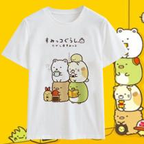 Cute Bear Penguin Cat Animation Short Sleeve T-shirt