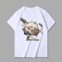 Kimetsu No Yaiba Pokeman Cartoon Short Sleeve T-shirt