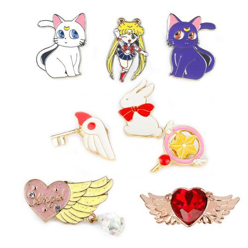 Anime Sailor Moon Enamel Brooch Pins