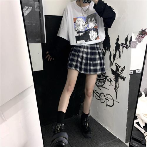 Toilet-bound Hanako-kun Retro Cartoon Girls Fake Two Long Sleeve Shirts