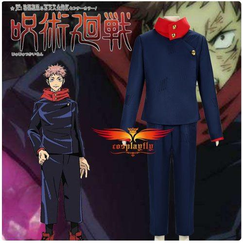 Anime Jujutsu Kaisen Yuji Itadori Cosplay Costume Outfits