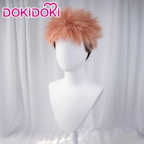 Anime Sorcery Fight Jujutsu Kaisen Cosplay Yuji Itadori Costume Wig