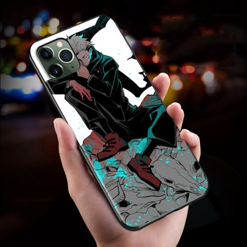 Anime Sorcery Fight Jujutsu Kaisen For iPhone Black Cover Phone Case