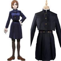 Anime Sorcery Fight Jujutsu Kaisen Cosplay Costume Japanese Black School Uniform Dress Outfits
