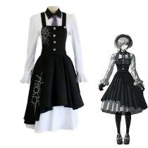 Anime Danganronpa V3 Killing Harmony Tojo Kirumi  Cosplay  Costume Uniforms Shirt Dress and Wig