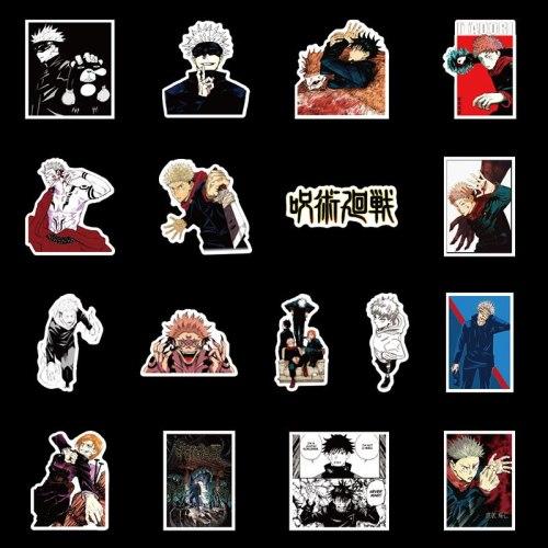 50Pcs Anime Sorcery Fight Jujutsu Kaisen Stickers DIY Scrawl