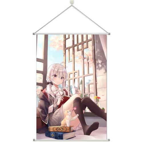 Wandering Witch The Journey of Elaina Alloy Fabric Wall Poster Scroll 60x90CM 24x36 Inches