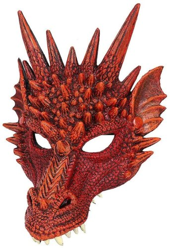 PU Cosplay Dragon's Head Mask for Masquerade Festival Party Halloween Christmas Props
