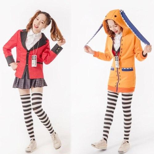 Anime Kakegurui Compulsive Gambler Yomoduki Runa Cosplay Costume