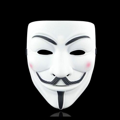 Cosplay V for Vendetta Hacker Mask Halloween Christmas Party Gift Film Theme Mask