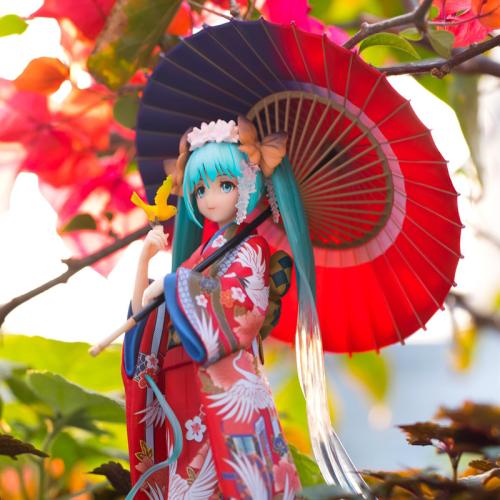 Hatsune Miku Kimono Action Figure Toys Doll Collection with Box
