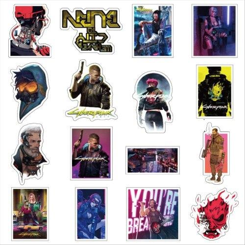 10/30/50PCS Game Cyberpunks 2077 Graffiti Stickers Laptop Car Decoration Christmas Gift