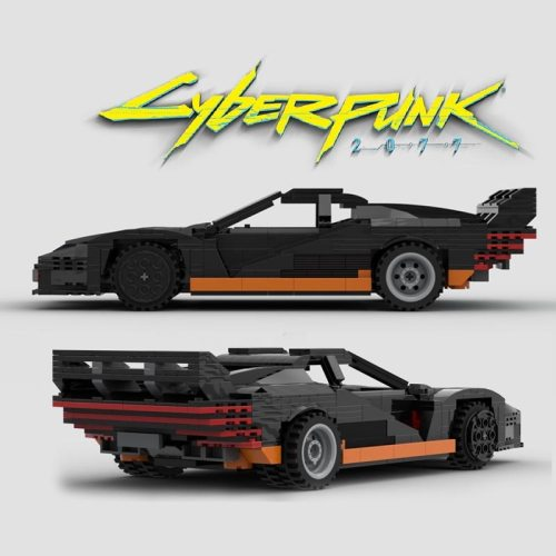 Cyberpunkes 2077 Quadra Turbo R Fit MOC-47787 Building Kits Blocks Bricks Car Toys for Christmas Gifts