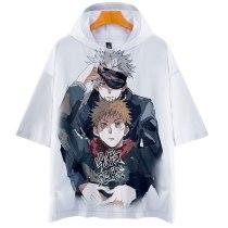 Anime Jujutsu Kaisen Summer Short Sleeve Hooded T-shirts
