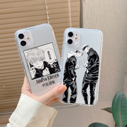 Anime Jujutsu Kaisen Shockproof Silicone Phone Case for iPhone 12 Mini 11 Pro Max XS XR X 8 7 6 6S