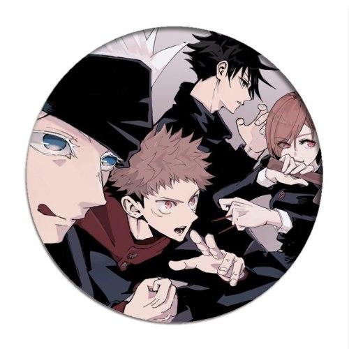 Anime Jujutsu Kaisen Cosplay Backpack Badges Yuji Itadori Brooch Pins