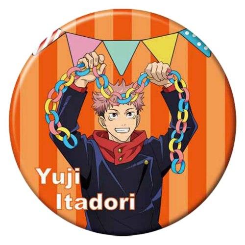 Anime Jujutsu Kaisen Yuji Itadori Satoru Button Medal Brooch Pin Cosplay Props