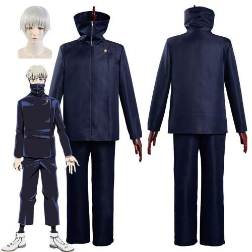 Anime Jujutsu Kaisen Toge Inumaki Cosplay Costume Wig Top+Pants Christmas Uniform Outfits