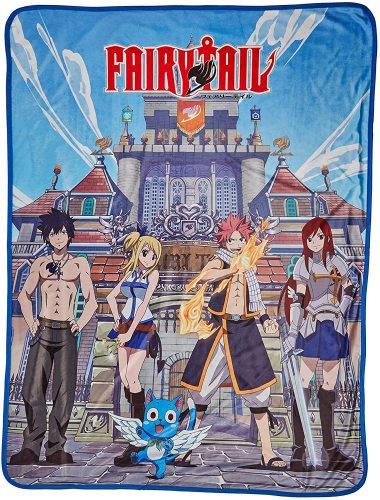 Fairy Tail Group & Building Sublimation Throw Blanket